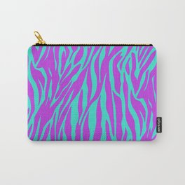 Purple and Green Zebra print Carry-All Pouch