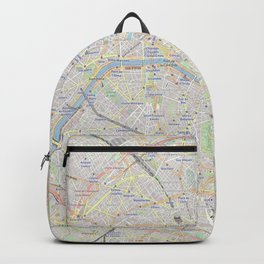 map of Paris – France, French,city of light,seine, parisien, parisian. Backpack