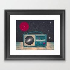 Space Radio Framed Art Print