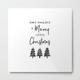 Merry Little Christmas Metal Print