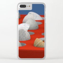 MARBLE - WOOD - CONCRETE - COTTON II Clear iPhone Case