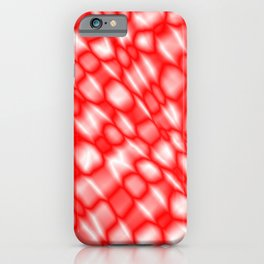 Splashes of paint in a red diagonal with cracks on the plastic film. iPhone Case