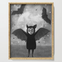 Halloween Bat Serving Tray