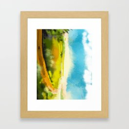 Colorful Abstract Landscape Framed Art Print