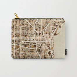 Milwaukee Wisconsin City Map Carry-All Pouch