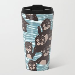 Otters dazzling the audience Travel Mug