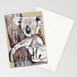 koala cuddle Stationery Cards