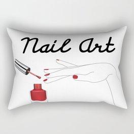 Nail Art Rectangular Pillow