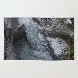 Frozen Waterfalls of Maligne Canyon Rug