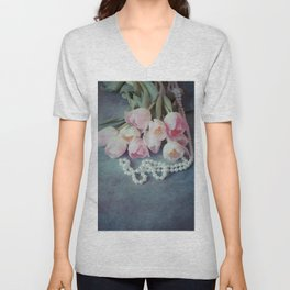 Tulips and Pearls Unisex V-Neck