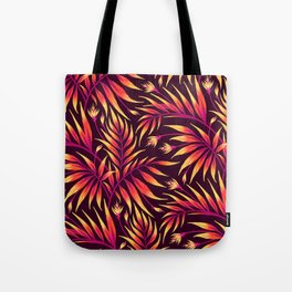 Waikiki Palm - Orange Tote Bag