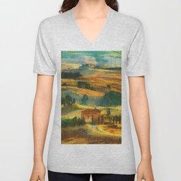 Hills of Tuscany Unisex V-Neck