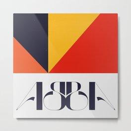 ABBA Typographic Lettering Print Metal Print