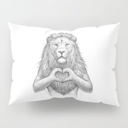 Lion with love Pillow Sham
