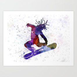 young snowboarder Art Print
