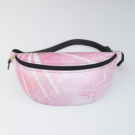 Abstract Pink Palm Tree Leaves Design Fanny Pack