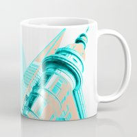 san francisco Mugs featuring San Francisco by DM Davis