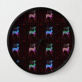 REINDEER Pattern Wall Clock