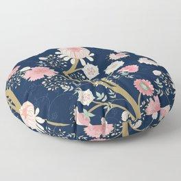 Trailing Rose Floor Pillow