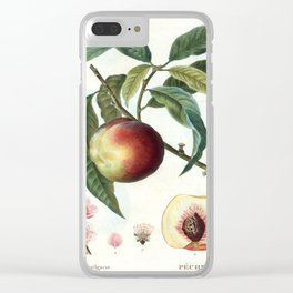 Peach on a branch Clear iPhone Case