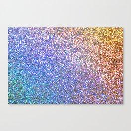 Purple Ombre Glitter Canvas Print