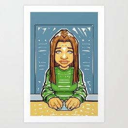 Playin' cards Art Print