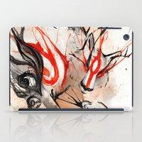 okami iPad Cases featuring Okami Amaterasu Ink by Rubis Firenos