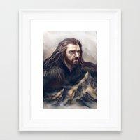 thorin Framed Art Prints featuring Thorin by Ka-ren