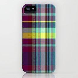 vegetable madras plaid iPhone Case
