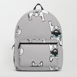 Soft grey Frenchies Backpack