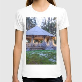 Kiosk in winter T-shirt