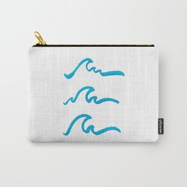 Three Waves Carry-All Pouch