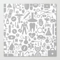 medical Canvas Prints featuring Medical background by aleksander1