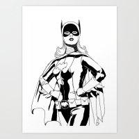 batgirl Art Prints featuring Batgirl by MKilness