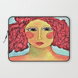 Bad Hair Day Abstract Digital Painting Laptop Sleeve