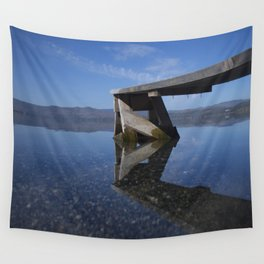 Transparent lake Wall Tapestry