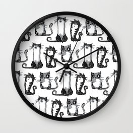 Black cats Wall Clock