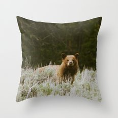 Bush Bear Throw Pillow