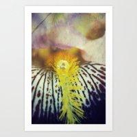 iris Art Prints featuring Iris by KunstFabrik_StaticMovement Manu Jobst