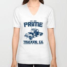 TRANSFORMERS INSPIRED OPTIMUS PRIME TRUCKING trucker Unisex V-Neck