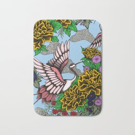 Cranes (Yellow) Bath Mat