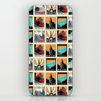 posters iPhone & iPod Skins featuring Travel Posters by Printed Village