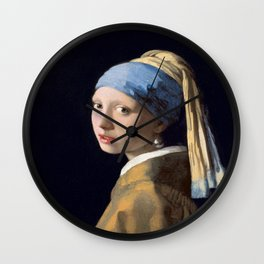 Johannes Vermeer's Girl With a Pearl Earring Wall Clock
