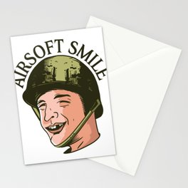 Soldier with helmet saying Stationery Cards