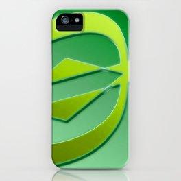 Arrow green iPhone Case