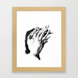 Hand Hatching Framed Art Print