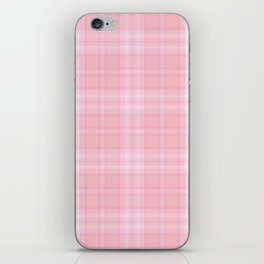 Pink Blush Plaid Pattern iPhone Skin