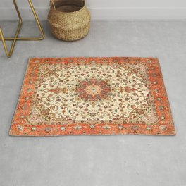 N71 - Orange Antique Heritage Traditional Moroccan Style Mandala Artwork Rug