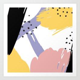 Memphis Colors Art Print