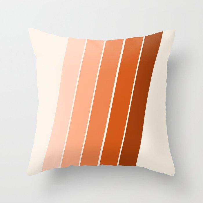 The Skinney 70 S Abstract Minimal Stripe Striped Pattern Retro Throwback 1970s Art Decor Throw Pillow